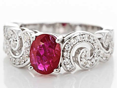 Red Ruby Sterling Silver Ring 1.51ctw