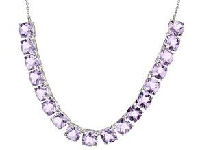 Lavender Amethyst Silver Necklace 55.53ctw