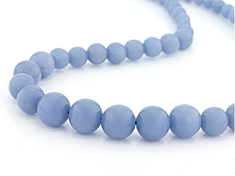 Blue Angelite Sterling Silver Necklace