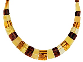 Mixed Color Amber Bead Necklace