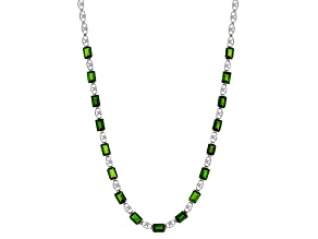Green Chrome Diopside Sterling Silver Necklace 15.13ctw