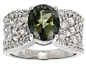 Green Labradorite Silver Ring 3.73ctw