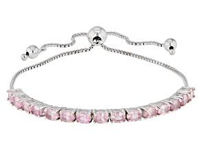 Pink Spinel Sterling Silver Bolo Bracelet 2.62ctw