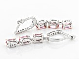 Pink Spinel Sterling Silver Earrings 1.61ctw