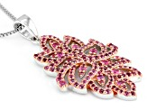 Pink Spinel Sterling Silver Pendant With Chain 1.35ctw