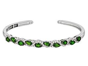 Green Chrome Diopside Sterling Silver Bracelet 4.67ctw