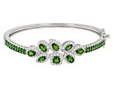 Green Chrome Diopside Silver Bangle Bracelet 6.73ctw