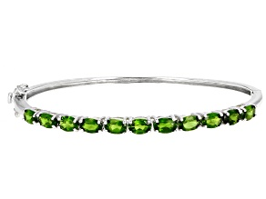 Green Chrome Diopside Sterling Silver Bracelet 4.77ctw