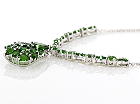 Green Chrome Diopside Sterling Silver Necklace 4.47ctw