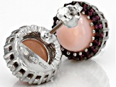 Pink Peruvian Opal Sterling Silver Earrings .30ctw