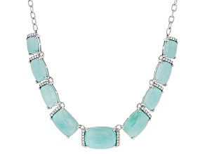 Blue Amazonite Sterling Silver Necklace .51ctw