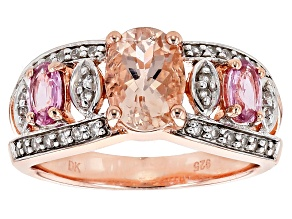Pink Morganite 18k Rose Gold Over Sterling Silver Ring 1.70ctw