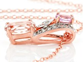 Pink Morganite 18k Rose Gold Over Silver Pendant With Chain 1.35ctw