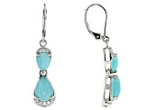 Blue Amazonite Sterling Silver Earrings .17ctw