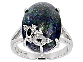 Multicolor Azurmalachite Sterling Silver Ring .09ctw