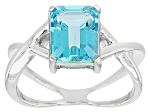 Blue Paraiba™ Mystic Topaz® Sterling Silver Ring 2.25ct