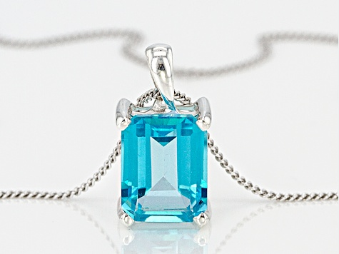 Blue Paraiba™ Mystic Topaz® Silver Pendant With Chain 2.25ct