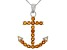 Yellow Citrine Sterling Silver Anchor Pendant With Chain .56ctw