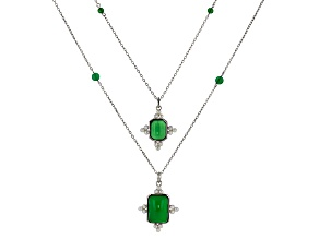 Green Onyx Sterling Silver Necklace