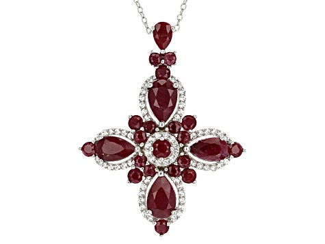Red indian ruby sterling silver pendant with chain 1021ctw mmh418 red indian ruby sterling silver pendant with chain 1021ctw aloadofball Choice Image
