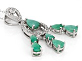 Green Sakota Emerald Sterling Silver Pendant With Chain 2.69ctw