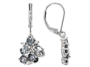 Gray Titanium Spinel Silver Earrings 1.90ctw