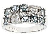 Gray Spinel Rhodium Over Sterling Silver Ring 1.62ctw