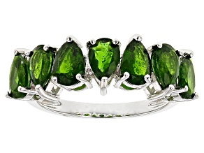 Green Chrome Diopside Sterling Silver Band Ring 2.55ctw