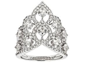 White Zircon Sterling Silver Ring 2.74ctw.