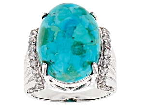 Blue Turquoise Sterling Silver Ring 1.01ctw