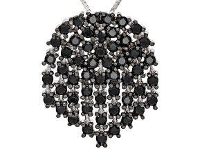 Black Spinel Sterling Silver Pendant With Chain 1.94ctw