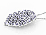 Blue Tanzanite Sterling Silver Pendant With Chain 1.77ctw