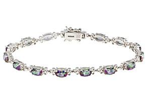 Multicolor Mystic Topaz® Sterling Silver Bracelet 7.01ctw
