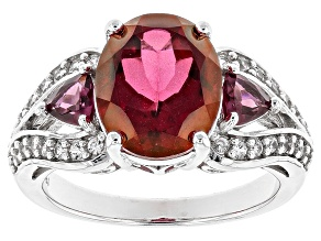 Red Peony™ Mystic Topaz® Silver Ring 4.82ctw