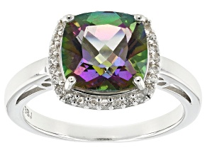 Multicolor Mystic Topaz® Sterling Silver Ring 3.24ctw