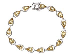 Yellow Beryl Sterling Silver Bracelet 8.92ctw