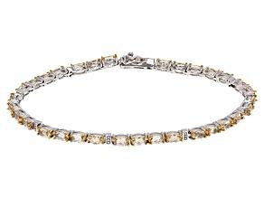 Yellow Beryl Sterling Silver Bracelet 5.44ctw