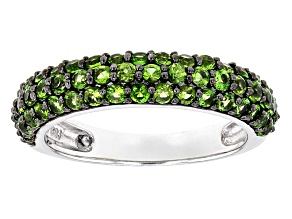 Green Chrome Diopside Sterling Silver Ring 1.43ctw