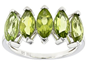 Green Peridot Sterling Silver Ring 2.12ctw