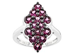 Purple Rhodolite Sterling Silver Ring 2.62ctw