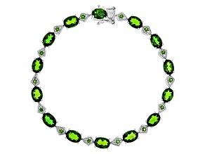 Green Chrome Diopside Sterling Silver Bracelet 11.01ctw