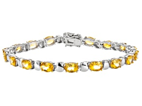 Yellow Citrine Sterling Silver Bracelet 11.16ctw