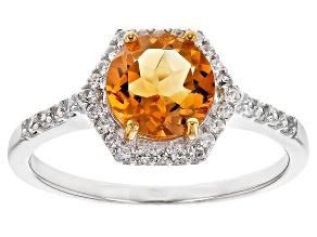 Orange Citrine Sterling Silver Ring 1.31ctw