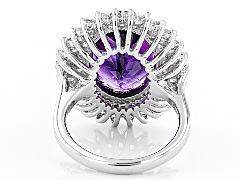 Purple Moroccan Amethyst Sterling Silver Ring 8.69ctw