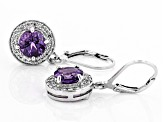 Purple Uruguayan Amethyst Sterling Silver Earrings 2.68ctw