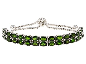 Green Chrome Diopside Sterling Silver Bracelet 14.70ctw