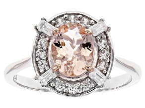 Pink Morganite Sterling Silver Ring 1.23ctw