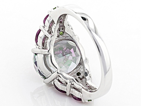 Multicolor Mystic Topaz® Sterling Silver Ring 6.48ctw