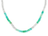 Multicolor Blue Serbian Opal Silver Necklace