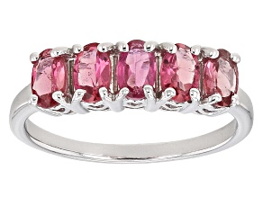 Pink Rubellite Sterling Silver Ring .93ctw